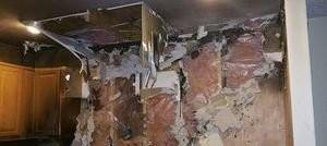 Water Damage Fire Damage Gutting In Progress