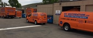 Water and Mold Damage Restoration Fleet At Headquarters