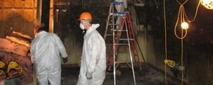 Mold Damage Restoration Technicians At Work