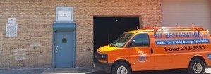 Water Damage Festus Van Parked Outside Headquarters