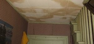 Upstairs Flooding Causing Water Stains On Ceiling
